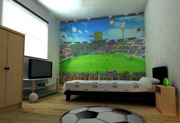 Подросток футбольная комната дизайн